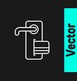 white line digital door lock with wireless vector image vector image