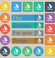 Windsurfing icon sign Set of twenty colored flat vector image