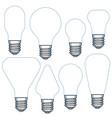 electric light bulb set vector image
