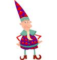 fantasy christmas elf cartoon vector image