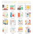 Infographics mini concept Hotel service icons for vector image