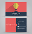 Design business card vector image