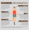 fashion infographic with sport style man vector image
