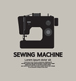 Single Sewing Machine Black Graphic vector image