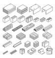 construction materials set vector image