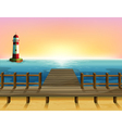 A tall parola and the wooden bridge vector image vector image