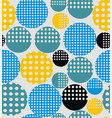 abstract geometry from circles with holes vector image vector image