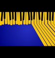abstract music background yellow piano keys vector image vector image