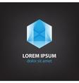 abstract polygon futuristic blue icon logo vector image vector image