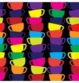 Abstract seamless background with cups vector image vector image