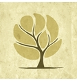 Abstract tree on grunge paper for your design vector image