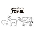 animals farm group icon vector image