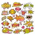 Badges Stickers Comic Speech Bubbles Set vector image vector image