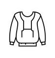 big sweatshirt line icon concept sign outline vector image