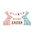boho easter concept design story template vector image vector image