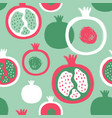 brush grunge pomegranate seamless pattern vector image vector image