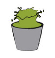 bucket with green paint vector image