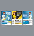 business meeting poster set businessman vector image vector image