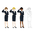 Business Woman Thinking Scratching Head vector image vector image