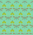 butterfly and dragonfly seamless pattern vector image vector image