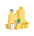 Cardboard Boxes Set vector image