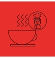 cartoon chef gourmet hot cup coffee vector image