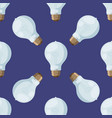 cartoon lamps light bulb seamless pattern vector image vector image