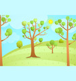 cartoon nature landscape empty background vector image vector image