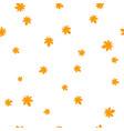 chestnut leaf orange pattern seamless vector image