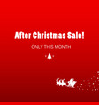 christmas sale simple poster vector image vector image