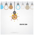Creative light bulb Idea concept background design vector image vector image