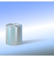 Cylinder with reflections on colored background vector image