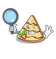 detective crepe character cartoon style vector image vector image