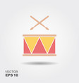 drum with sticks icon vector image vector image