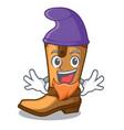 elf cowboy boots in the shape cartoon vector image vector image