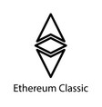 ethereum classic icon crypto currency vector image vector image