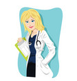 female doctor vector image vector image