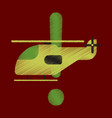 flat icon in shading style helicopter vector image vector image