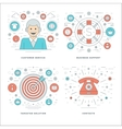 Flat line Customer Services Support Target vector image vector image
