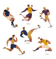 football soccer player set isolated faceless vector image