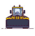 front view of wheel loader vector image
