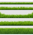green grass borders set background transparent vector image