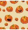 Halloween background with pumpkins vector image