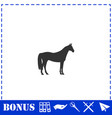 horse icon flat vector image vector image