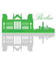 Isolated Berlin skyline vector image vector image