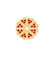italian pizzeria logo designs inspiration vector image vector image