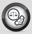 legal assistance icon vector image
