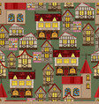 medieval city seamless pattern vector image
