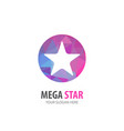 mega star logo for business company simple mega vector image