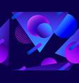 memphis seamless pattern asymmetrical geometric vector image vector image